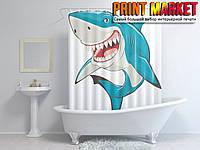 Шторы для ванной акула