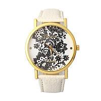 Нежные оригинальные женские часы Geneva Lace , белые