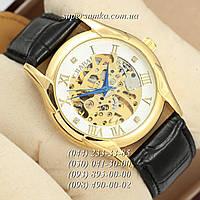Оригинальные мужские наручные часы Слава Gold/White