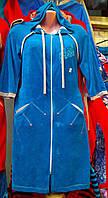 Женский велюровый халат без пояса