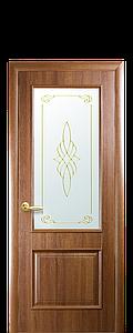Дверь межкомнатная ВИЛЛА СО СТЕКЛОМ САТИН И РИСУНКОМ №1