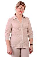 Блуза льняного цвета хлопок вышитая прошва рубашка, Бл 637-1.