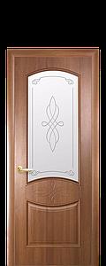 Дверь межкомнатная ДОННА СО СТЕКЛОМ САТИН И РИСУНКОМ