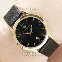 Armani Slim Quartz Gold/Black