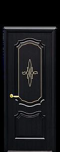 Дверь межкомнатная РОКА ГЛУХОЕ С ГРАВИРОВКОЙ GOLD