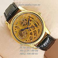 Удобные мужские наручные часы Omega Black/Gold/Light-Gold Blue Narrows