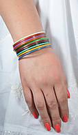 Браслет ручной работы разноцветный с ювелирной эмалью, 65 грн оптом