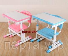 Небольшие детские парты и стулья растущие