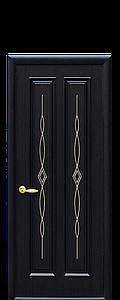 Дверь межкомнатная СТЕЛЛА ГЛУХОЕ С ГРАВИРОВКОЙ GOLD