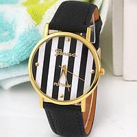 Нежные оригинальные женские часы Geneva , черные