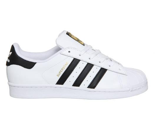 Женские кроссовки Adidas Superstar  White Black