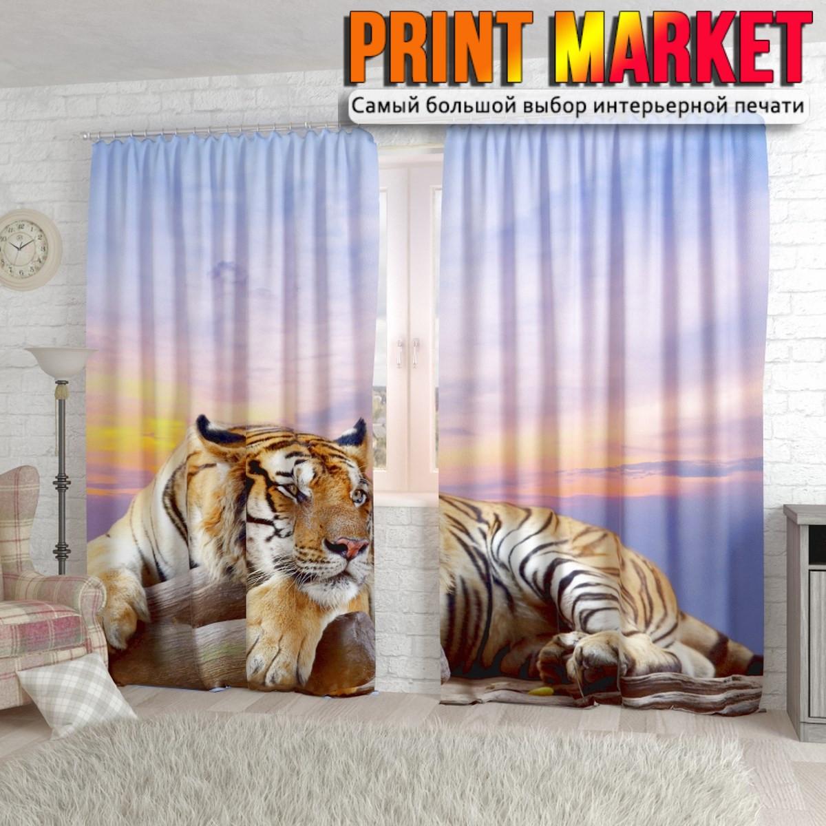 Фотошторы тигр