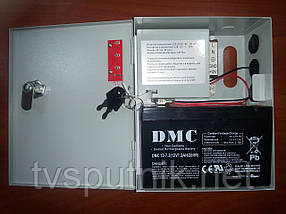 Импульсный блок бесперебойного питания UPS-3121 (12В/3А) +Аккумулятор DMC12-7.2
