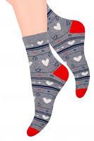 Молодежные носки с сердечками  steven