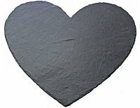 Поднос сердце из камня, сланца 24х19,5 см