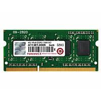 Модуль памяти для ноутбука SoDIMM DDR3 4GB 1600 MHz Transcend (JM1600KSH-4G)