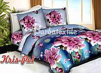 """Двуспальный комплект постельного белья  """"Букет роз""""."""