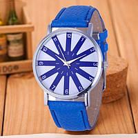 Модные оригинальные женские часы,синие