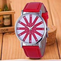 Модные оригинальные женские часы, красные