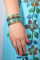 Браслет ручной работы голубой с костью, 60 грн оптом