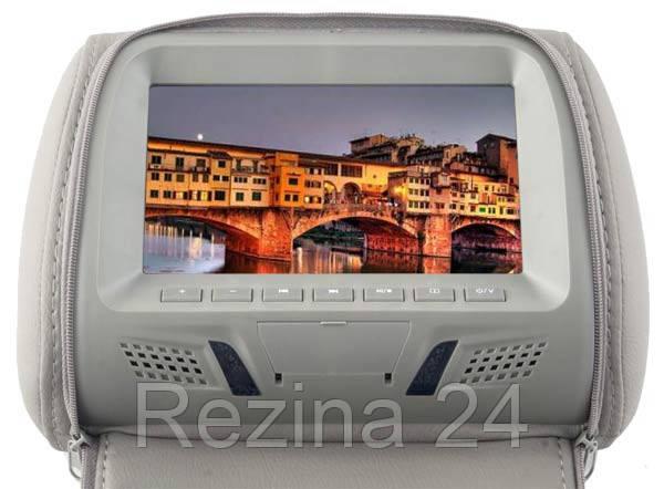 Подголовник с монитором KLYDE Ultra 717 Grey (серый) - Rezina 24 в Львове