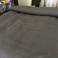 Льон коричневий темний, ширина 150 см, фото 1