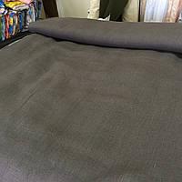 Лён коричневый тёмный, ширина 150 см, фото 1