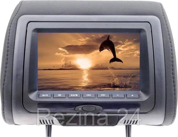 Подголовник с монитором и DVD-проигрывателем KLYDE Ultra 745 HD Black - Rezina 24 в Львове