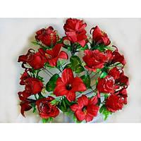 Роза с лилией C-16-73, 65 см (6 шт./уп.) Искусственные цветы