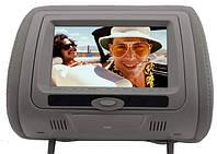 Подголовник с монитором и DVD-проигрывателем KLYDE Ultra 745 HD Gray