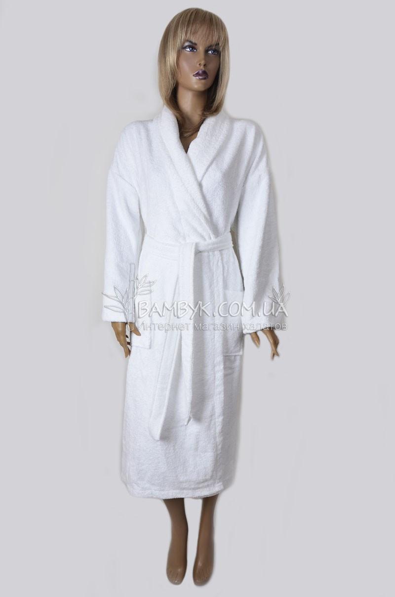 Халат белый махровый для отелей и салонов красоты My Home Plus № 5556-Othel