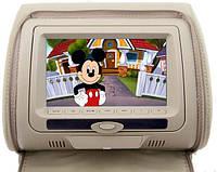 Подголовник с монитором и DVD-проигрывателем KLYDE Ultra 747 HD Beige