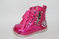 Ботинки на девочек оптом. Демисезонные детские ботинки на девочек весна 2017 от Y.Top YZ1171-5 (8пар, 23-28)