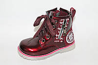 Ботинки на девочек оптом. Демисезонные детские ботинки на девочек весна 2017 от Y.Top YZ1171-15 (8пар, 23-28)