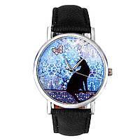 Модные оригинальные женские часы Black cat , черные