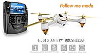Квадрокоптер Hubsan X4 FPV Brushless 5,8 ГГц HD GPS Altitude 2,4 ГГц RTF (H501S White)