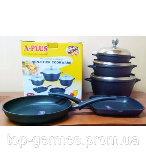 Набор казанов и сковородок  с тефлоновым покрытием из 5 пр