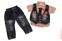 Детский джинсовый костюм 74 см Турция