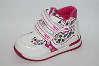 Ботинки на девочек оптом. Демисезонные детские ботинки на девочек весна 2017 от Y.Top G205-1 (8пар, 22-27)