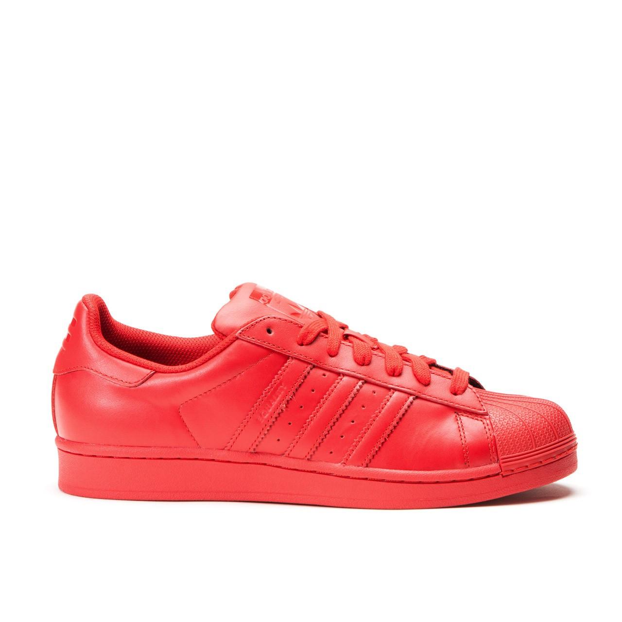 Женские кроссовки Adidas x Pharrell Superstar Red