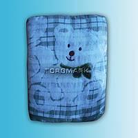 """Махровое льняное полотенце """"Мишка""""  - 50*90 см."""