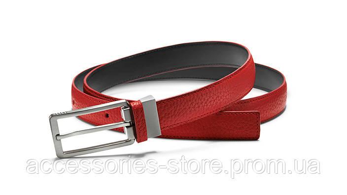 Женский кожаный ремень Audi Leather Belt Narrow, Red