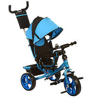 Велосипед M 3113-5 (1шт)три кол.EVA (11/9),колясочный,своб.ход колеса,тормоз,подшипн.,голубой