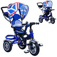 Детский трехколесный колясочный велосипед M 3114-1A Turbo Trike, синий