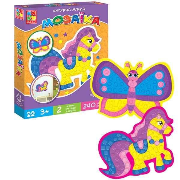Набор для творчества Vladi Toys Мягкая фигурная мозаика Лошадка (VT2301-13)