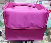 Чемодан со сьемным органайзером, маникюрная сумка тканевая для мастера, цвета в ассортименте, фото 1