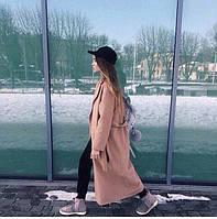 Женское демисезонное пальто на подкладке. ткань: ворсистая, мягкая. Размер универсальный см,мл.