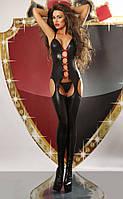 Сексуальный комбинезон Lolitta Flame Bodystocking Лолита Флем Бодистокинг S/M стринги в комплекте