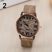 Модные оригинальные женские часы Wood