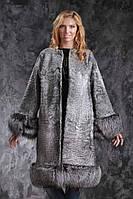 Шуба пальто из куракульчи SVAKARA со съемной чернобуркой